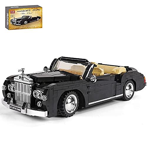 KEAYO Technik Oldtimer Auto Modell, Mould King 10006, Technik 1964 RR Sliver Cloud Auto Klemmbausteine Bausatz Kompatibel mit Lego Technik
