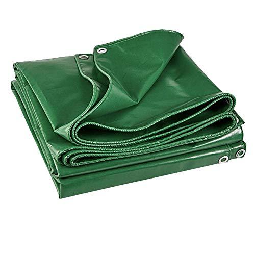 KDMB Lona de Servicio Pesado para Exteriores Cuatro Estaciones Disponibles a Prueba de Polvo Resistente al Desgaste Fácil de Plegar Lona de PVC Engrosada 520g / m 0,5 mm Verde (Tamaño: 6x5m)