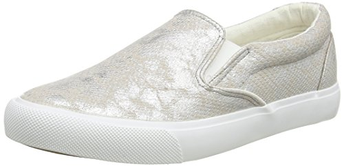 New Look Mail-Shim Slip On, Scarpe da Barca Donna, Argento (Silver), 37 EU