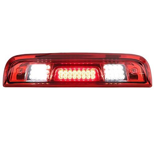 GMC 시에라 1500 2500HD 3500HD   CHEVY SILVERADO 1500HD 3500HD 3500HD용 제3 브레이크 라이트 레드 렌즈 하이 마운트 라이트 테일 브레이크 라이트 카고 램프 클리어 하우징 LED 라이트