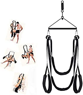 360 Spinning š&êx Swing Ceiling Hanging Swing Set with Steel Triangle Frame and Spring for Adult Couples - Support 800 Lbs - 3rd Generation