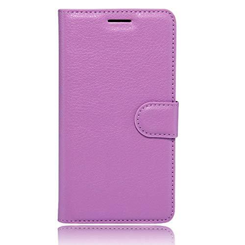 Sangrl Leder Lederhülle Schutzhülle Für LG K5, Wallet Tasche Für LG K5, mit Halterungsfunktion Kartenfächer Flip Hülle Lila