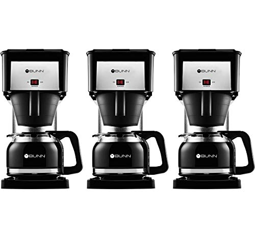 BUNN BX Speed Brew Classic 10-Cup Coffee Brewer, Black (Three Pack)