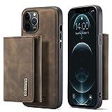 GROSSRTIG pour iPhone 12 Pro Max Protective Board Magnétique Détachable Portefeuille de...