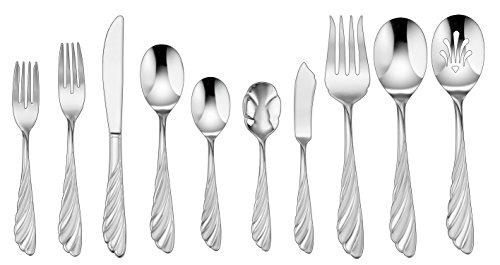 Cuisinart CF-01-AB45 Abelle Collection 45 Piece Flatware Set, Stainless Steel