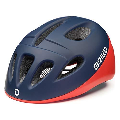 Briko Fury Casco Ciclismo, Niños, Blue-Red, Small