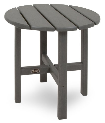Trex Outdoor Furniture Cape Cod Round 18-Inch Side Table, Stepping Stone