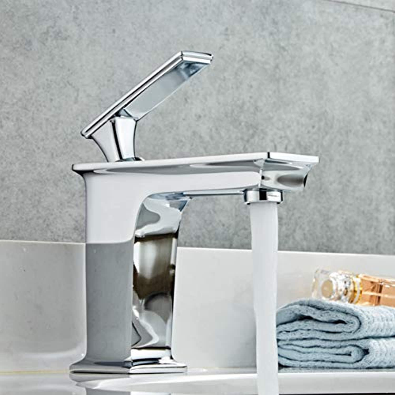 Faucet European Copper Single Hole Basin Faucet hot and Cold wash Basin Basin Bathroom Bathroom Cabinet washbasin Faucet Home