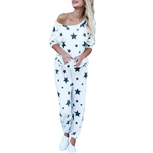 Best Price Missli Women 2Pcs Tracksuit Star Print Sets Leisure Home Wear Comfy Yoga Wear Suit