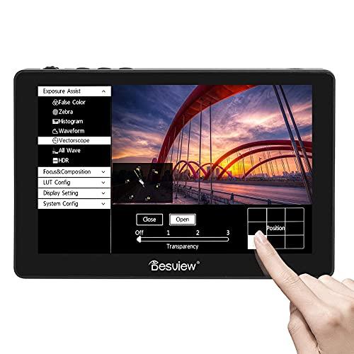 Desview R7P Monitor da Campo 7 Pollici Touchscreen, DSLR-Monitor-Esterno-Reflex-4K HDMI 1100nit 1920 * 1200 Compatibile per Canon, Nikon, Sony, Panasonic, Fujifilm