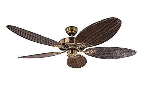 Ventilatore a soffitto, ROYAL 132 MA Ala Rattan antico