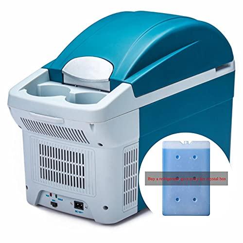 Mini Nevera Congelador, Refrigerador de Coche Con Congelador de 8.5L Mini Refrigerador 22 ℃ -65 ℃ 12V / 24V / 220V (Comprar Refrigerador Liberarse Cristales de Hielo Caja)