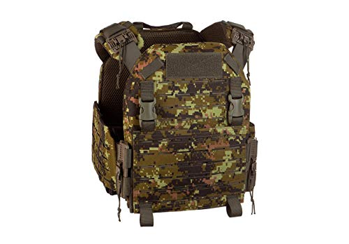 Invader Gear QRB Plate Carrier Airsoft Army Kampfweste Paintball Lasercut Premium (Flecktarn / CAD)