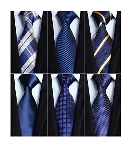 ビジネス ネクタイ 紺 セット チーフ 6本 メンズ ブランド ネクタイ 結婚式 おしゃれ シルク フォーマル 男性 就活 卒業式