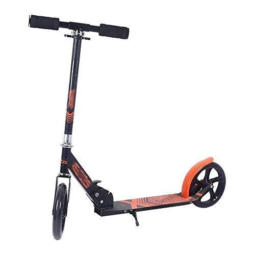FQCD Scooter Sicherheit Faltbare Einstellbare |Teen Tretroller |Pendler Scooters, Stadt Scooters Adjustable...