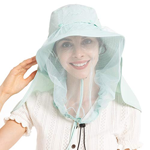 Palmyth Mosquito Head Net Hat, Sun Hat Safari Hat Away from Insect and Bug (Julep)