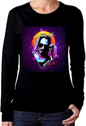 AiChao Keanu Reeves Women's Design Long Sleeve t-Shirts Cotton Shirt