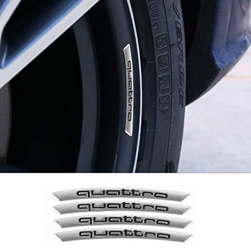 Ltjqsm 17'18' 19'16' Pegatinas de neumáticos de Rueda de automóvil Reflective Rim Moderbike Auto Calcomanías (Color Name : Silver)