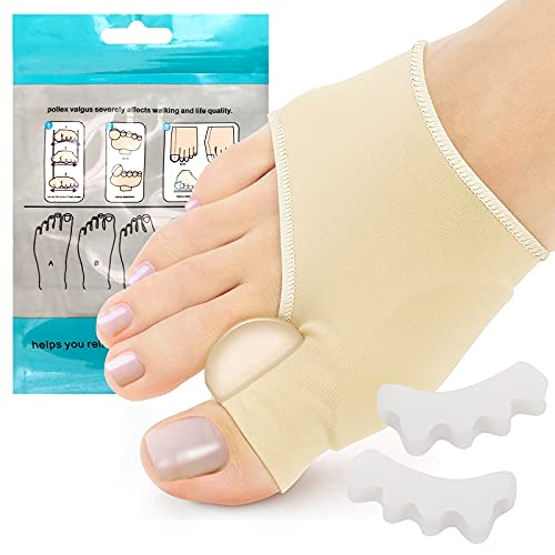 Ronly Bunion Corrector for Women and Men(2PCS),Orthopedic Bunion Splint,Toe Separator Pain Relief,Bunion Pads,Non-Surgical Hallux Valgus Correction,Hammer Toe Straightener,Day Night Support