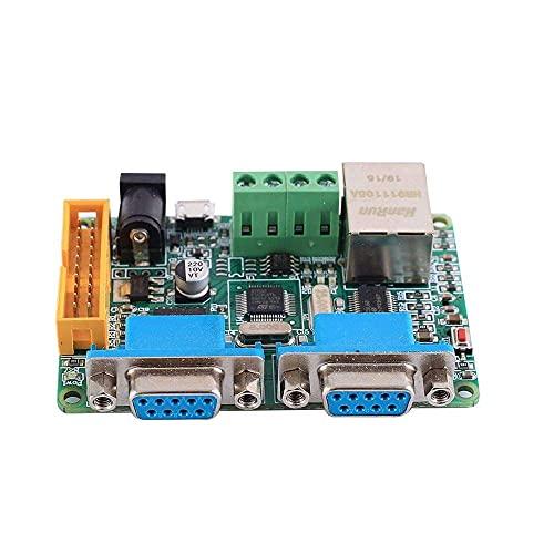 Yuyanshop Placa de desarrollo STM32F103C8T6, convertidor de protocolo dual del puerto serie RS485 RS232 del módulo de red ENC28J60 2Bit