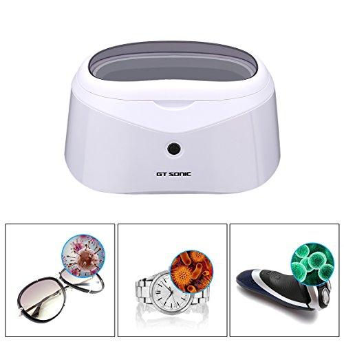 Ultraschallreiniger Reinigungsgerät GT SONIC Ultraschallreinigungsgerät Digital Ultrasonic Cleaner Edelstahl Ultraschallbad mit Uhrenhalter und Reinigungskorb für Brillen Schmuck Uhren 600ml 40KHz