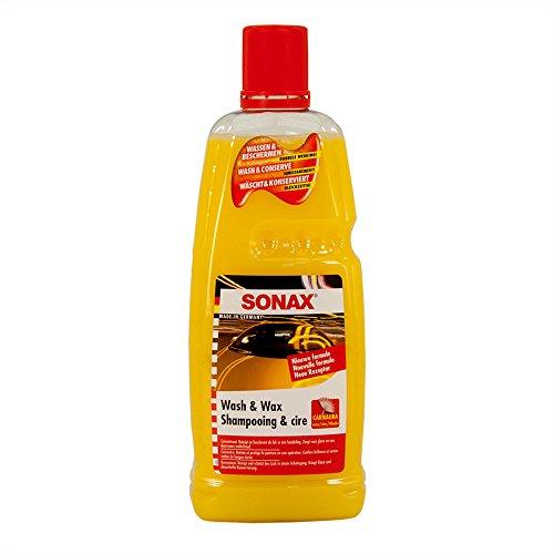 SONAX Wash and Wax 1837668 313.341 Reinigungsmittel und Wachs, 1 l