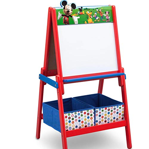 Disney Mickey Mouse Maltafel aus Holz für Kinder ab 3 Jahre Standtafel Magnettafel Whiteboard Kreidemaltafel Kindermaltafel Buchstaben ABC Magnet