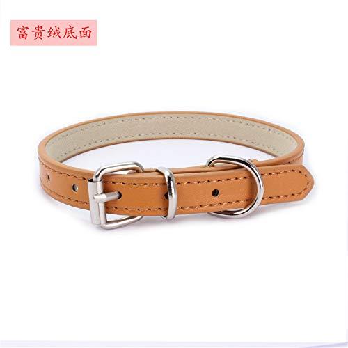 Ocamo hondenhalsband, Dog Collar - Zachte halsband met hondenhalsband voor kleine kattenpuppy's, Round rope 120*1.3cm, Rich plush broek: oranje