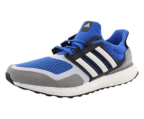 adidas Mens Ultraboost S&L Athletic Running Shoes White Grey Blue - Size 8