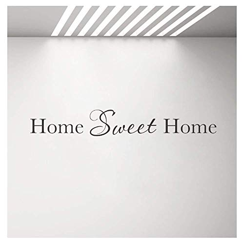 Home Sweet Home Vinilo decorativo Vinilo Vinilo familiar Vinilos removibles familiares 171 cm x 25 cm