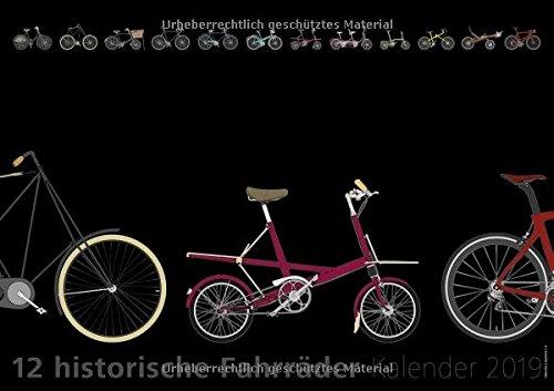 12 historische Fahrräder: Kalender 2019