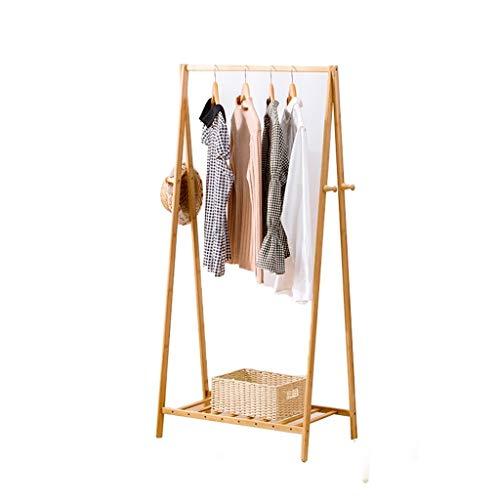 XZGang Sombrero de madera sólida perchero, de estilo japonés Escudo Bastidores La simplicidad de barras horizontales for suelo de barra de colgar entrada Mobiliario de dormitorio tienda de ropa