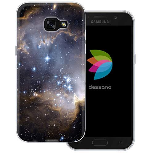 dessana Weltall durchsichtige Schutzhülle Handy Hülle Cover Tasche für Samsung Galaxy A5 (2017) Dunkle Galaxie