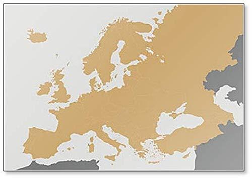 Politieke blanco Europa Kaart - Koelkast Magneet