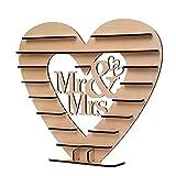 DASNTERED Expositor para postres de chocolate – Decoración para Stand de chocolate con forma de corazón adorno para fiestas románticas duraderas para bodas