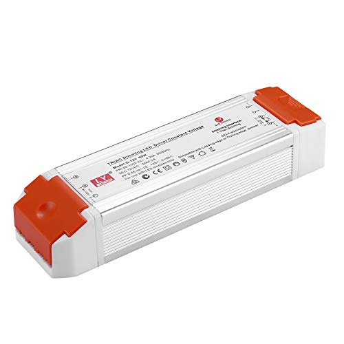Dimmable LED Driver 12V 60W Universal Regulated DC 12V Switch Power Supply Dimmable Low Voltage Transformer for LED Strip with Dimmer Compatible with Lutron and Leviton for LED Strip Lights