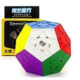 CuberSpeed Qiyi Megaminx Sculpted Stickerless Magic Cube Mofangge QiYi QiHeng S Stickerless Sculpted Megaminx Magic Cube