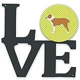 Caroline's Treasures - Tablero de ajedrez para perro pastor de Asia central (metal verde), diseño de amor, multicolor