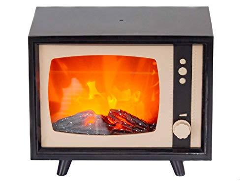 Firenze Home LED Kamin Retro Fernseher ca. m22x17x12 cm Dimmbar