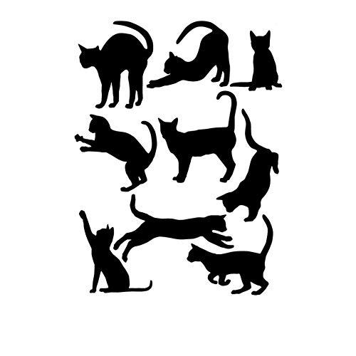 Vektenxi - Adhesivo Decorativo para Pared, diseño de Gatos