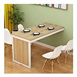 Rabattre Table fixation murale Table pliante en bois, stable robuste Construction,...