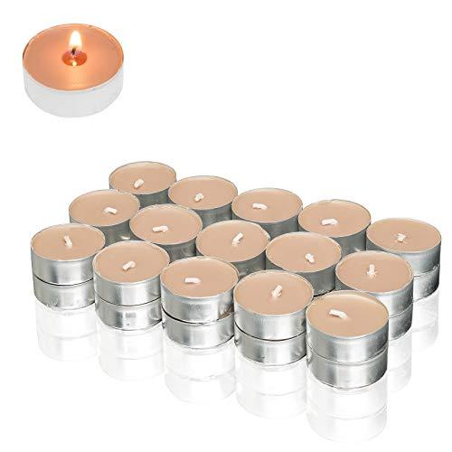 Smart-Planet® Kerzen Ambiente - 30 Stück Duftteelichter Teelichter Teelicht Set Gebrannte Mandeln Duft - Aluminium Hülle - 4 Stunden Lange Brenndauer