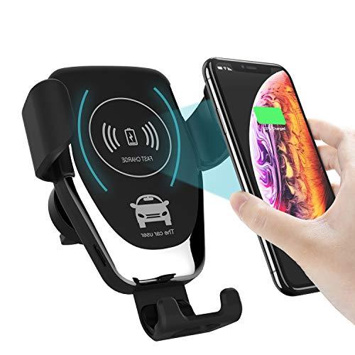 Mbuynow Mobilhållare bil mobiltelefonhållare för bil ventilation bil mobiltelefonhållare för iPhone SE 11 11Pro, Samsung S10 S9 S8, Huawei Xiaomi