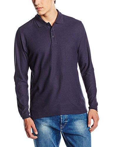 Fruit of the Loom SS037M, T-Shirt Polo Uomo, Blu (Deep Navy), X-Large