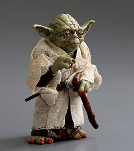 Star Wars Statue Statue des Meisters Yoda 12CM bewegliche Figur von Meister Yoda in echter Kleidung