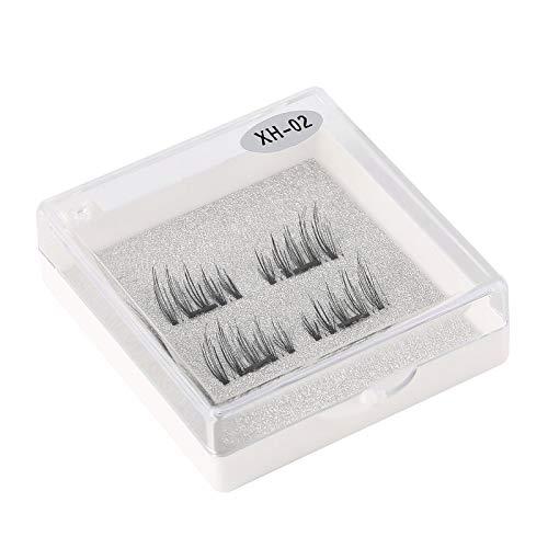 Handmade 3D Single Magnetic False Eyelashes Handmade Fake Lashes Extension Reusable Easy to Apply Ultra Thin Soft Comfortable Furobayuusaku