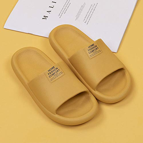 XZDNYDHGX Shower Sandals House Soft Flip Flop Shoes For Indoor,Ladies Home Slippers Bathroom Non-Slip Indoor, Thick-Soled Family Shoes Bath Slipper yellow UK 5.5-6