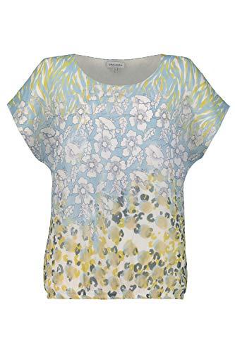 GINA LAURA Damen Bluse, Mustermix-Chiffon, blickdichtes Top helloliv 3XL 725283 44-3XL