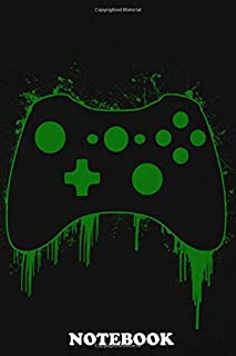 Notebook: Xbox Pad , Journal for Writing, College Ruled Size 6