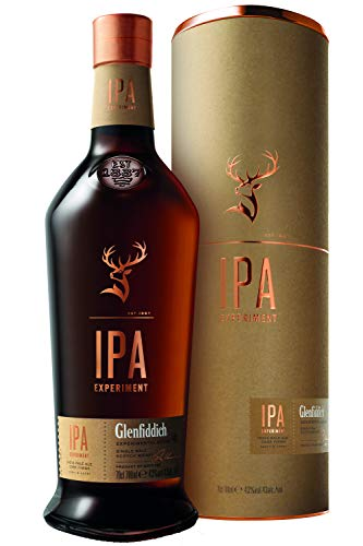 Glenfiddich IPA Experiment Single Malt Scotch Whisky – limitierte Premium-Auflage in Indian Pale Ale Fässern gereift mit Geschenkverpackung, 1x 0,7l, 43% Vol.
